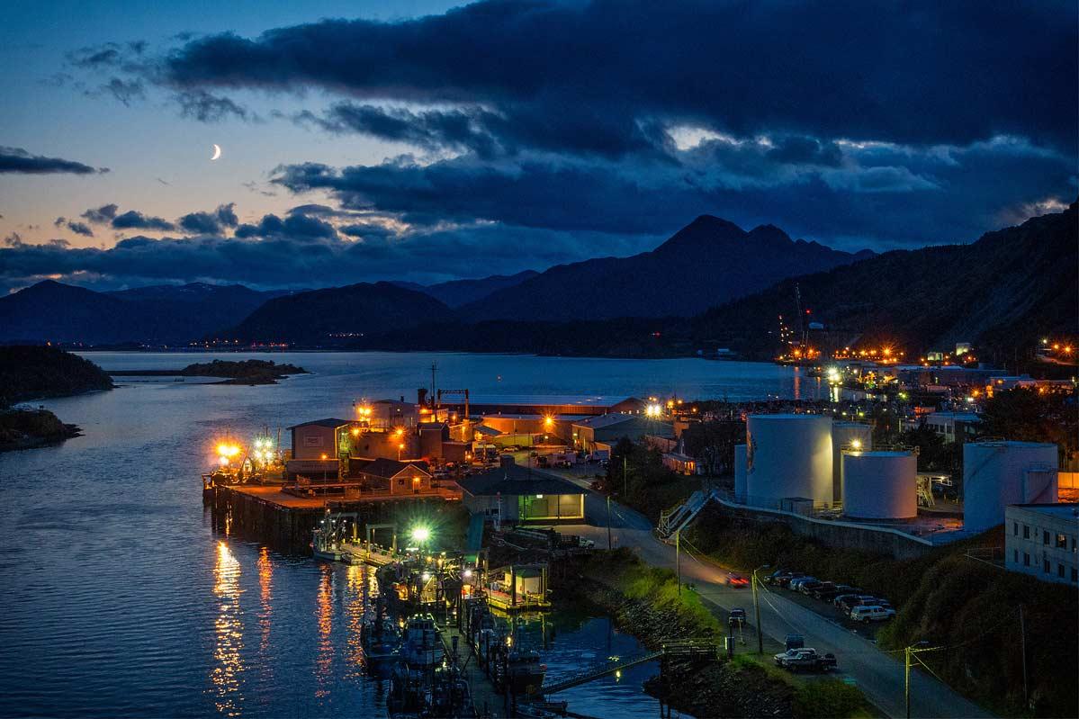 Kodiak-Harbor-Night